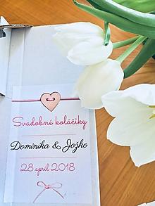 Papiernictvo - Samolepky na svadobné koláče / pálenku / víno - 9784648_