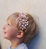 Ozdoby do vlasov - Čelenka - starorůžová - 9784224_