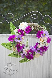 Dekorácie - Venček fialový - 9784292_