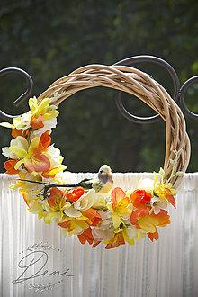 Dekorácie - Venček letný vtáčik - 9784313_