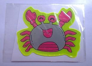 Iný materiál - Reflexná samolepka zvieratko - krab - 9785478_