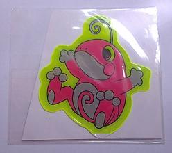 Iný materiál - Reflexná samolepka zvieratko - žaba - 9785521_