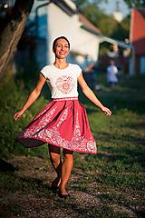 Sukne - červená suknička - 9784831_