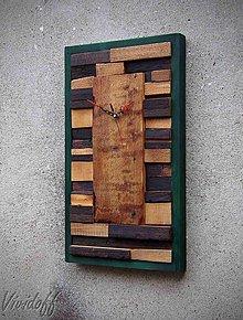 Hodiny - drevený obraz s hodinami 6 - 9786440_