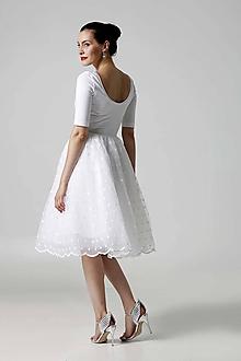 Šaty - Šaty biele s tylovou sukňou - 9788655_