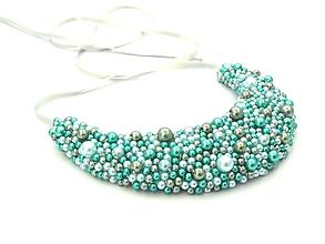 Náhrdelníky - Modro-zelený náhrdelník - 9788853_