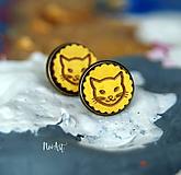 Náušnice - Náušnice napichovacie mačičky - 9788140_