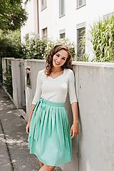 Sukne - Zavinovací sukně mátová - 9787510_