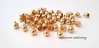 Komponenty - Kaplík plastový 7,5 mm - zlato - 9789348_