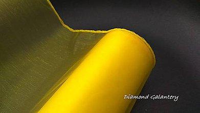 Galantéria - Obšitá organza 12 cm - žltá - 9788790_