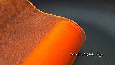 Galantéria - Obšitá organza 12 cm - oranžová - 9788799_