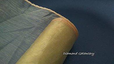Galantéria - Obšitá organza 12 cm - zlatistá - 9788811_