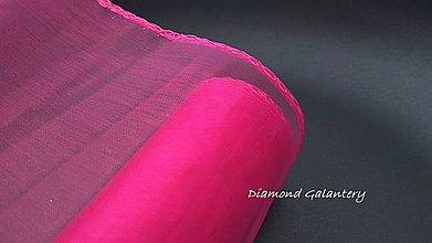 Galantéria - Obšitá organza 12 cm - tmavá ružová - 9788814_