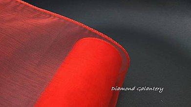 Galantéria - Obšitá organza 12 cm - červená - 9788819_