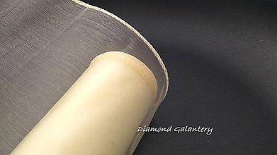 Galantéria - Obšitá organza 12 cm - smotanová - 9788838_