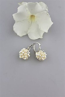 Náušnice - perly náušnice v striebre-svadobné - 9788988_