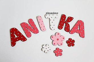 Detské doplnky - ANITKA bodkované meno pre dievčatko - 9787585_