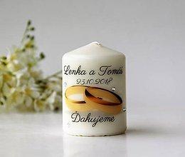 Svietidlá a sviečky - Sviečka - darček pre svadobčanov - 9788268_