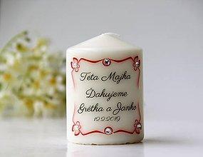 Svietidlá a sviečky - Sviečka - darček pre svadobčanov - 9788315_