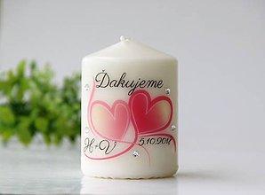 Svietidlá a sviečky - Sviečka - darček pre svadobčanov - 9788331_