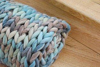 """Úžitkový textil - Chunky deka """"zem/vzduch"""" - 100 % pravá Merino vlna - 9788420_"""