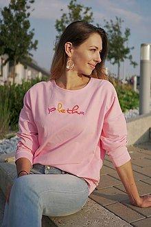 Mikiny - Ružová mikina pletka - 9788916_