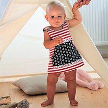 Detské oblečenie - Námořnické šatičky, vel. 68 -128 - 9789405_