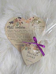 Darčeky pre svadobčanov - Magnetka pre hostí v tvare srdiečka - 9787916_