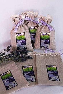 Úžitkový textil - Levanduľové vrecká - 9787918_
