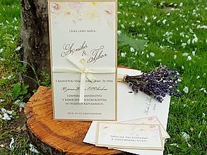 Papiernictvo - Svadobné oznámenie Kvetinové - 9787344_