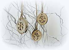 Dekorácie - Vianočné ozdoby prírodné -sada - 9788414_