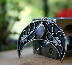 Náhrdelníky - Lunica s mesačným kameňom - 9786537_