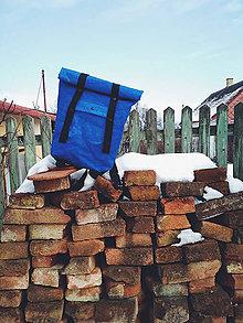 Batohy - Papierový rolltop batoh // blue aged - 9787197_