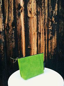 Taštičky - Papierová kozmetická taštička // green - 9787614_