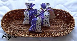 Dekorácie - Patchworkové mešteky plnené levanduľou - 9787821_