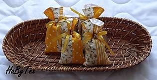 Dekorácie - Patchworkové mešteky plnené levanduľou - 9787828_