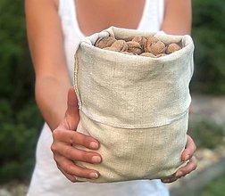 Úžitkový textil - Bezodpadové nákupné ľanové vrecká - 9787349_