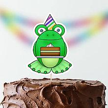 Dekorácie - Žabie zápichy na tortu - 9787508_