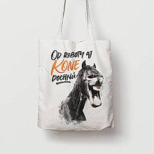 Nákupné tašky - Od roboty aj kone dochnú - 9790857_