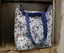 Nákupné tašky - nákupná taška - kvietky - 9791186_