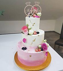 Dekorácie - Zápich na tortu obrúčky - 9790244_