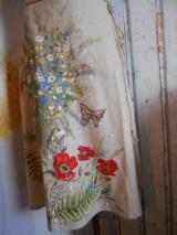 """Sukne - Ľanová sukňa """"Maky, paprade a lúčne kvety"""" - 9790371_"""