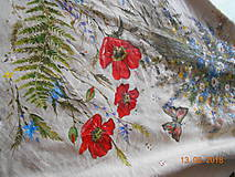 """Sukne - Ľanová sukňa """"Maky, paprade a lúčne kvety"""" - 9790377_"""