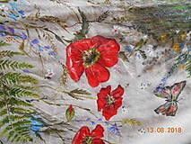 """Sukne - Ľanová sukňa """"Maky, paprade a lúčne kvety"""" - 9790379_"""