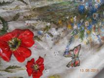 """Sukne - Ľanová sukňa """"Maky, paprade a lúčne kvety"""" - 9790381_"""