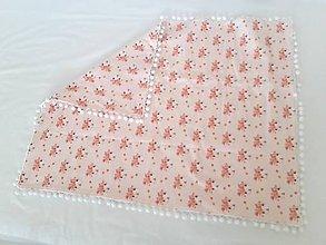 Textil - Deka ružové zajačiky s brmbolčekmi - 9792590_