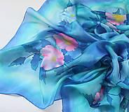 Šatky - Kvety na búrlivých výšinách..hodvábna šatka - 9789652_