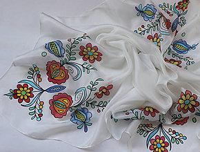 Šatky - Folk Vajnory..hodvábna šatka - 9790203_