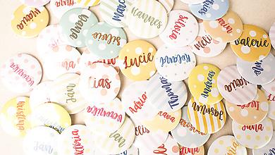 Darčeky pre svadobčanov - Svadobný odznak, svadobná brošňa, button - 9790229_