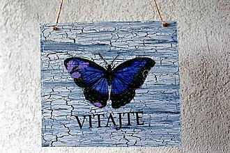 """Tabuľky - tabuľka """"Vitajte"""" s motýľom - 9790543_"""